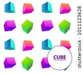 colorful vector cubes... | Shutterstock .eps vector #1011123628