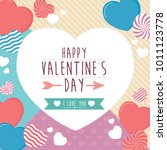 happy valentines day frame... | Shutterstock .eps vector #1011123778
