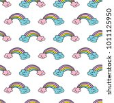 seamless vector pattern with... | Shutterstock .eps vector #1011125950