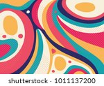 creative geometric colorful... | Shutterstock .eps vector #1011137200