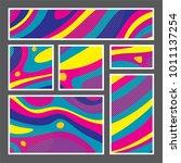 set of creative universal... | Shutterstock .eps vector #1011137254