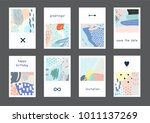 set of creative universal... | Shutterstock .eps vector #1011137269