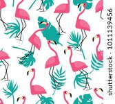 seamless vector pattern with... | Shutterstock .eps vector #1011139456