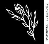 branch with flowers vector... | Shutterstock .eps vector #1011146419