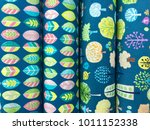 background colorful stack of... | Shutterstock . vector #1011152338