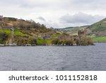 ruins of urquhart castle along...   Shutterstock . vector #1011152818