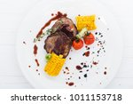grilled porky neck stuffed with ...   Shutterstock . vector #1011153718