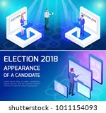 isometric voting  the concept... | Shutterstock .eps vector #1011154093