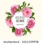 beautiful vector floral... | Shutterstock .eps vector #1011159958