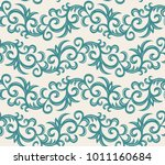 elegance seamless pattern.... | Shutterstock .eps vector #1011160684