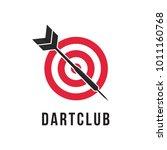 dart club or contest logo... | Shutterstock .eps vector #1011160768