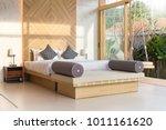 luxury interior design in... | Shutterstock . vector #1011161620