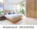 luxury interior design in... | Shutterstock . vector #1011161926