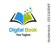digital book logo template | Shutterstock .eps vector #1011163069
