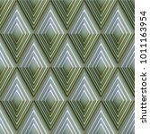 3d background  green rhombuses  ...   Shutterstock . vector #1011163954