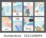 set of creative universal... | Shutterstock .eps vector #1011168694