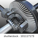 the differential gear. 3d image. | Shutterstock . vector #101117173