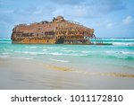 marine landscape with the...   Shutterstock . vector #1011172810