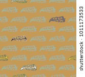 seamless pattern with rustic... | Shutterstock . vector #1011173533
