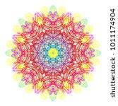 rainbow mandala  boho chic... | Shutterstock .eps vector #1011174904