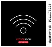 wi   fi line vector icon...