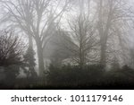silhouette of a white church...   Shutterstock . vector #1011179146