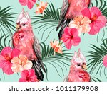 beautiful seamless vector... | Shutterstock .eps vector #1011179908