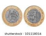 Single One Brazilian Real Coin...