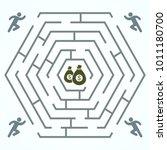 run for money   hexagonal...   Shutterstock .eps vector #1011180700