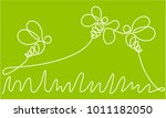 abstract one line drawing with... | Shutterstock .eps vector #1011182050