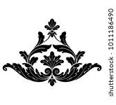 classical baroque vector set of ... | Shutterstock .eps vector #1011186490