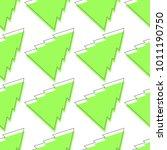 flat line pattern christmas... | Shutterstock .eps vector #1011190750