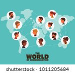 group of smiling young people... | Shutterstock .eps vector #1011205684