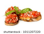 italian bruschetta with finely... | Shutterstock . vector #1011207220