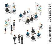 meeting room presentation team...   Shutterstock .eps vector #1011207919