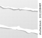 white ripped paper strips for... | Shutterstock .eps vector #1011208489