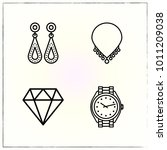 jewerly line icons set diamond... | Shutterstock .eps vector #1011209038