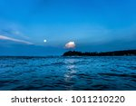 night seascape with the ocean... | Shutterstock . vector #1011210220