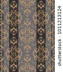 seamless damask pattern.... | Shutterstock .eps vector #1011213124