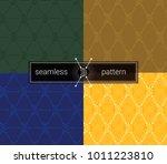 bitcoin seamless pattern. btc... | Shutterstock .eps vector #1011223810
