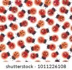 vector seamless cute pattern of ... | Shutterstock .eps vector #1011226108
