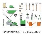 vector set of garden tools. | Shutterstock .eps vector #1011226870