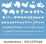 isolated silhouette maps of 200 ... | Shutterstock .eps vector #1011235168