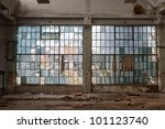 big windows in the workshop... | Shutterstock . vector #101123740