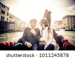 couple of lovers on vacation in ... | Shutterstock . vector #1011245878