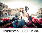 couple of lovers on vacation in ... | Shutterstock . vector #1011245908