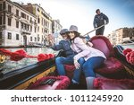 couple of lovers on vacation in ... | Shutterstock . vector #1011245920