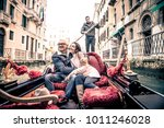 couple of lovers on vacation in ... | Shutterstock . vector #1011246028