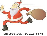 santa with gifts | Shutterstock .eps vector #1011249976