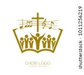 music logo. christian symbols.... | Shutterstock .eps vector #1011256219